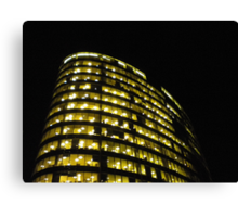 Cityscapes - Nighttime Golden Glow Canvas Print