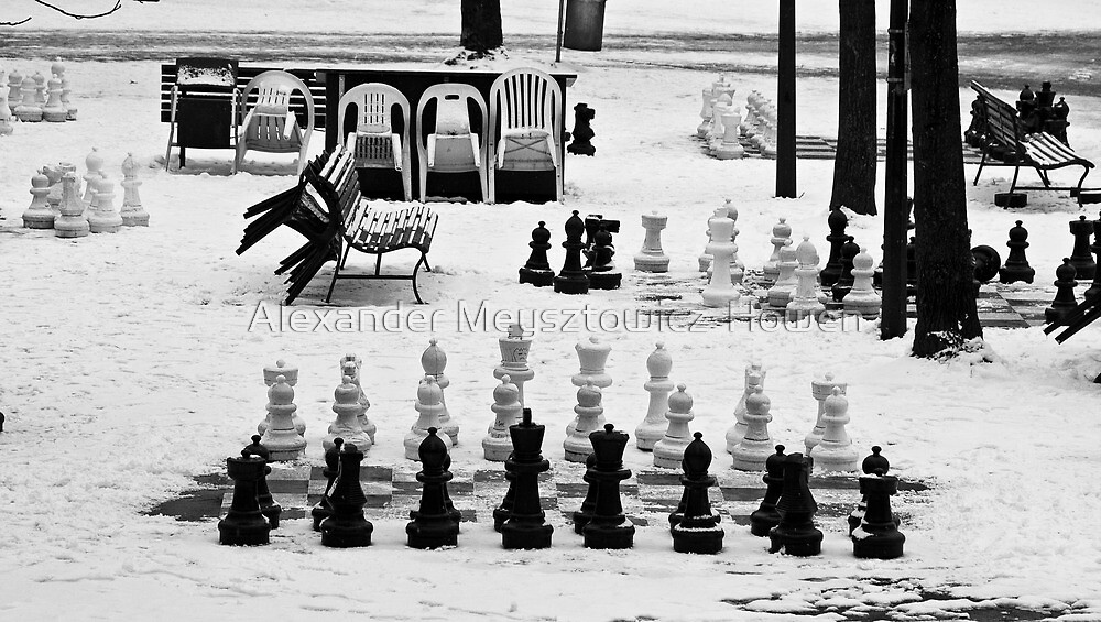 Too cold for chess by Alexander Meysztowicz-Howen