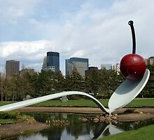 Spoon & Cherry Sculpture by tvlgoddess