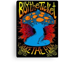 """""""Buy the ticket take the ride"""" Hunter S. Thompson quote original drawing Canvas Print"""
