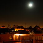 roofs by night in Marrakesh by churros