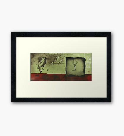 in_between Framed Print