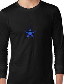Star 3 -Blue Long Sleeve T-Shirt