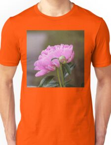 Pink Peony Faux Painting Unisex T-Shirt