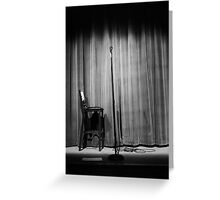 Empty Stage Greeting Card