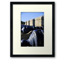 cannon on the mount Framed Print
