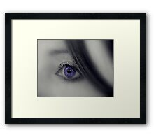 A touch of hair Framed Print