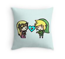 Link and Zelda Throw Pillow