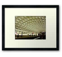 The Underground Metro System  ^ Framed Print