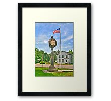 Memorial Clock Framed Print
