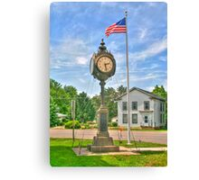 Memorial Clock Canvas Print