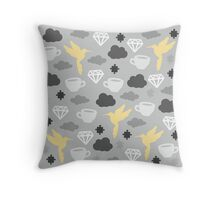 Cloudy Morning with Puzzles and Diamonds Throw Pillow