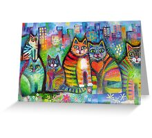 Urban Cats Greeting Card