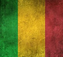 Old and Worn Distressed Vintage Flag of Mali by Jeff Bartels