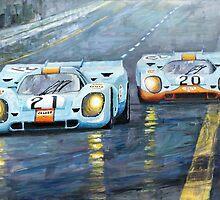 Porsche 917 K GULF Spa Francorchamps 1970 by Yuriy Shevchuk