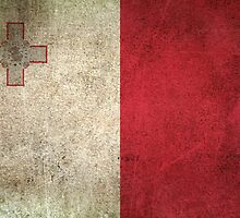 Old and Worn Distressed Vintage Flag of Malta by Jeff Bartels
