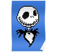 Jack Skellington - pixel art Poster