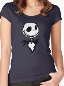 Jack Skellington - pixel art Women's Fitted Scoop T-Shirt