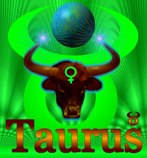 Taurus- Digital artwork by Elaine Bawden