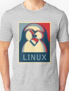 Linux tux penguin obama poster logo T-Shirt