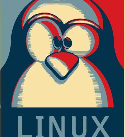 Linux tux penguin obama poster logo Sticker