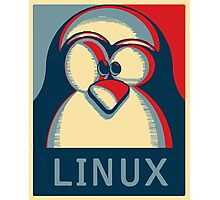 Linux tux penguin obama poster logo Photographic Print