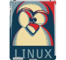 Linux tux penguin obama poster logo iPad Case/Skin
