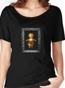 mona lisa paper doll Women's Relaxed Fit T-Shirt