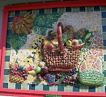 Amazing Mosaic - everything on this is mosaic... by BarbL