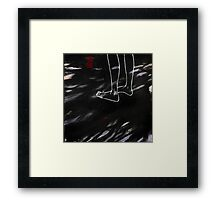 bicycle thief and sesame seed leaves at four o'clock Framed Print