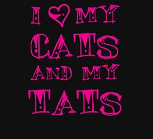 I love my CATS and my TATS Womens Fitted T-Shirt
