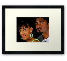African American Couple Framed Print