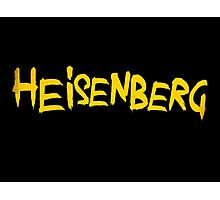 HEISENBERG. Breaking Bad Typography Piece Photographic Print