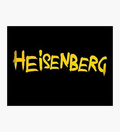 HEISENBERG. Breaking Bad Typography Piece Photographic Print