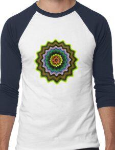 Colourful starry pattern Men's Baseball ¾ T-Shirt