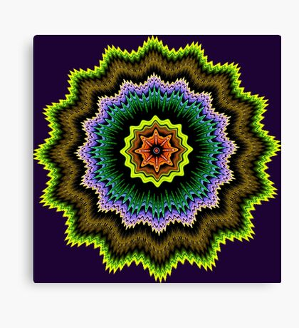 Colourful starry pattern Canvas Print