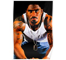 Tattooed African American Male Poster