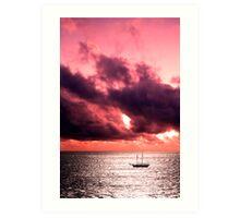 Red Sky at Night... Art Print