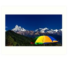 Colours of Nepal Art Print