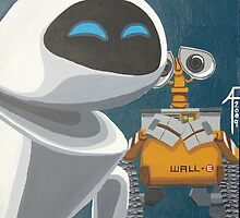 Wall-e and Eve by KRASH (Ashlee Fensand)