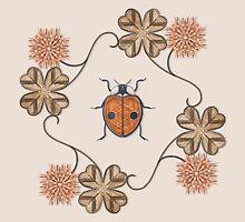 LadyBug Clovers - Vintage by Sunflow