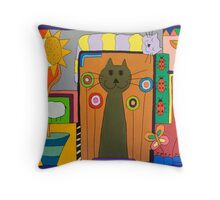 Cats - This and That Throw Pillow