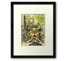 time and cosmic fabric as seen in fourth dimension on a butterfly wing Framed Print