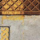 metal on concrete - rectangles composition by fabio piretti