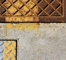 metal on concrete - rectangles composition by fabio piretti