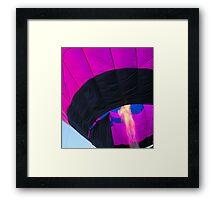 Purple Balloon Framed Print