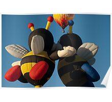 Bumblebee Balloons Poster