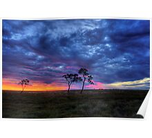 Outback Sunset-9406 Poster
