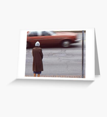 Waiting for a chance to cross. Greeting Card