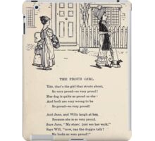 Miniature Under the Window Pictures & Rhymes for Children Kate Greenaway 1880 0040 The Proud Girl iPad Case/Skin